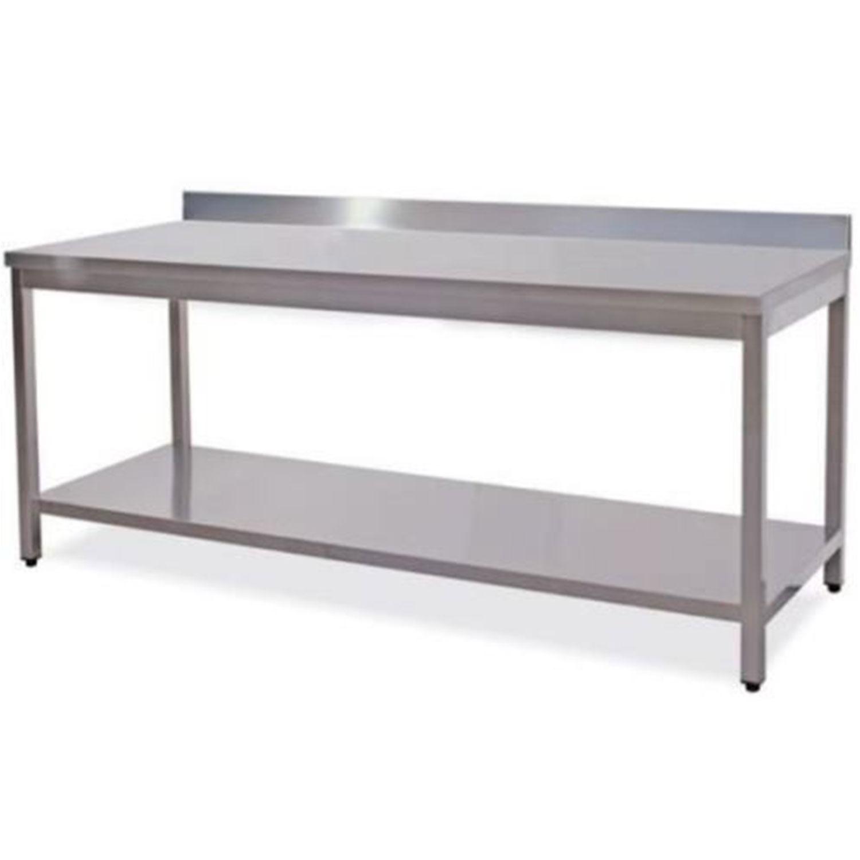 Tavolo da lavoro in acciaio inox con alzata posteriore gruppo di felice - Tavolo in acciaio inox usato ...