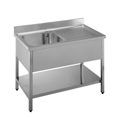 Lavatoio inox 1 vasca con sgocciolatoio gruppo di felice - Lavello cucina professionale ...