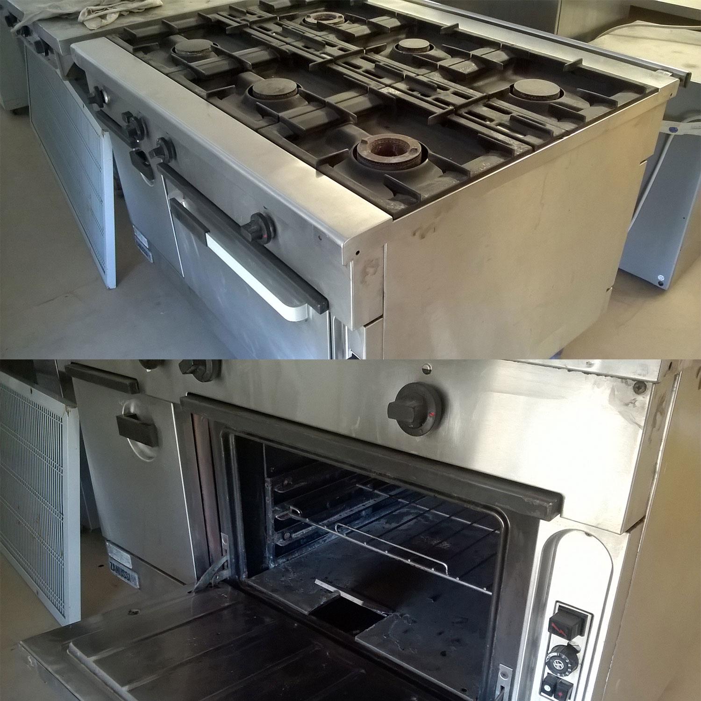 cucina 6 fuochi zanussi con forno usata | gruppo di felice - Cucine Industriali Zanussi